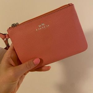 New With Tags - Coach Wristlet (pink)